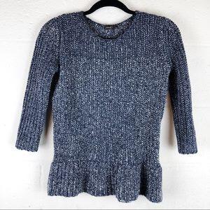 J. McLaughlin | small | peplum chunky sweater